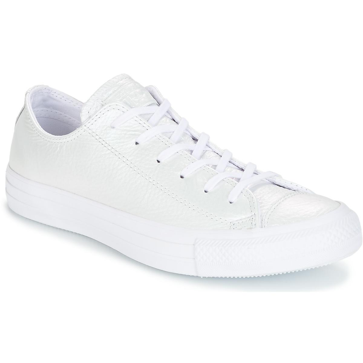 56cf413b5369 Converse. Chuck Taylor All Star Iridescent Leather Ox Iridescent Leather O Women s  Shoes ...