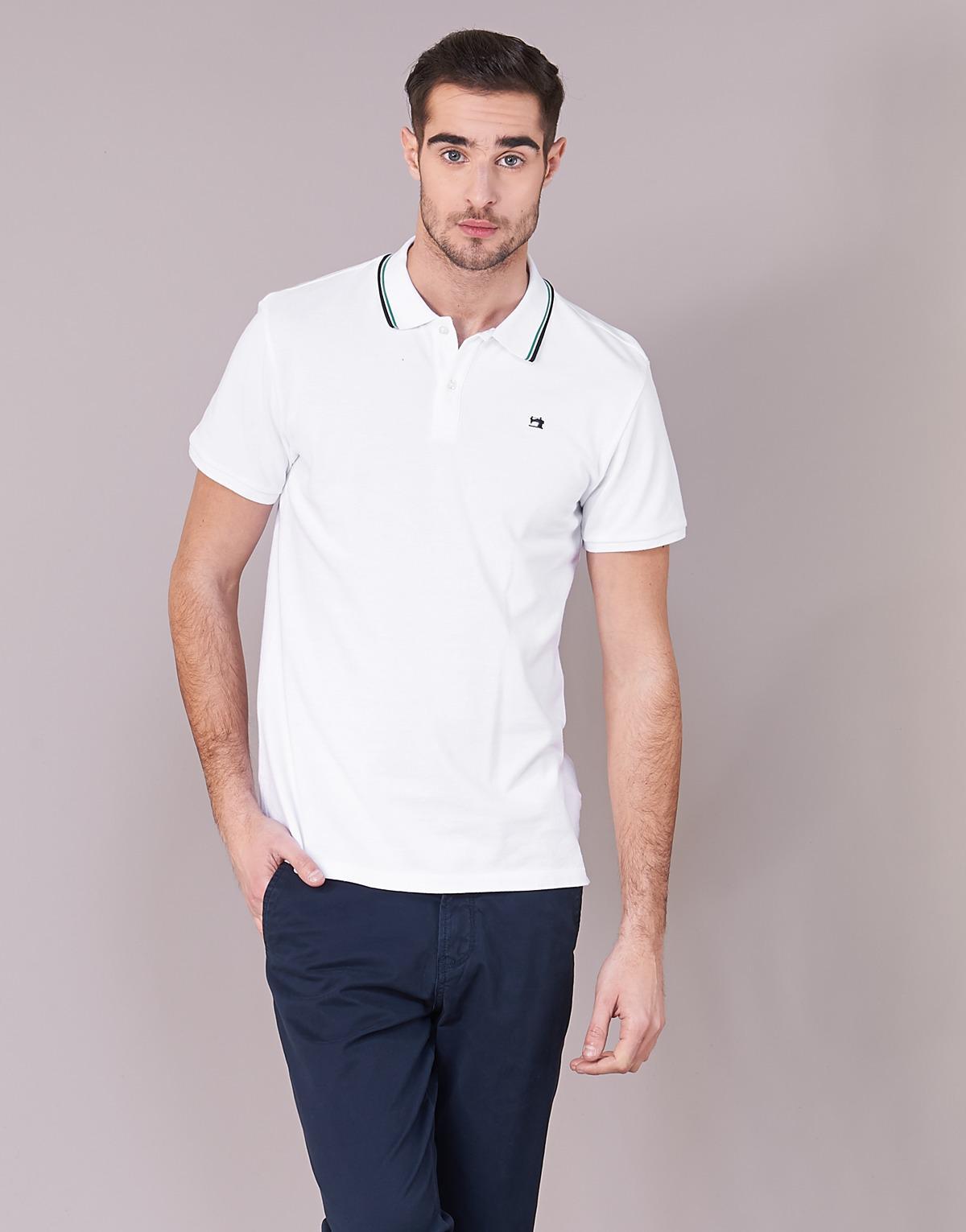57d38064c Scotch & Soda Yardn Polo Shirt in White for Men - Lyst