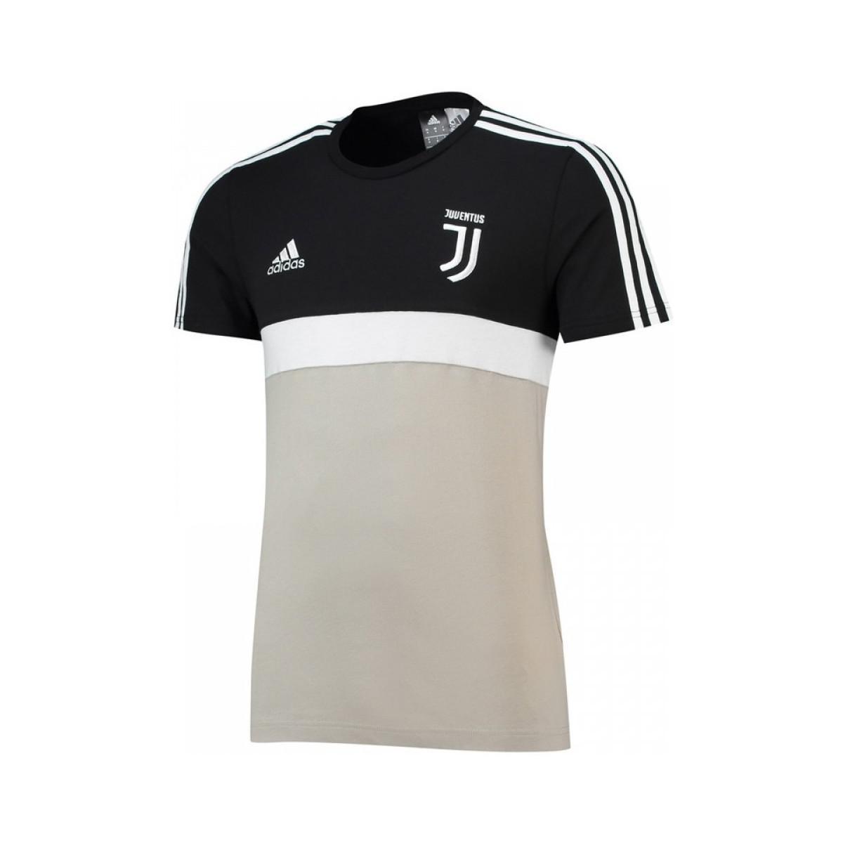 7e24e0546b9 adidas 2018-2019 Juventus 3 Stripe Tee (sesame) Men s T Shirt In ...