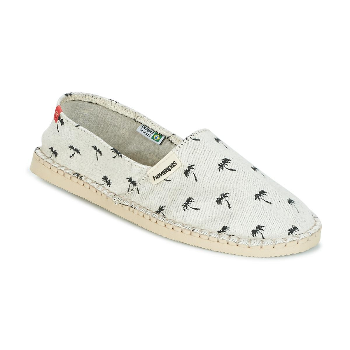 Havaianas Origine Print Beach Espadrilles Beige For Women Sale