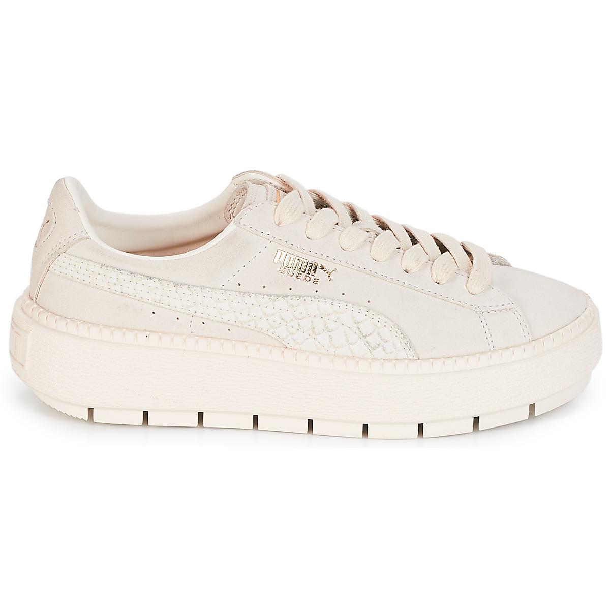 7f0ddf4b6d5a PUMA - Wn Platform Trace Animal.w Women s Shoes (trainers) In White -. View  fullscreen