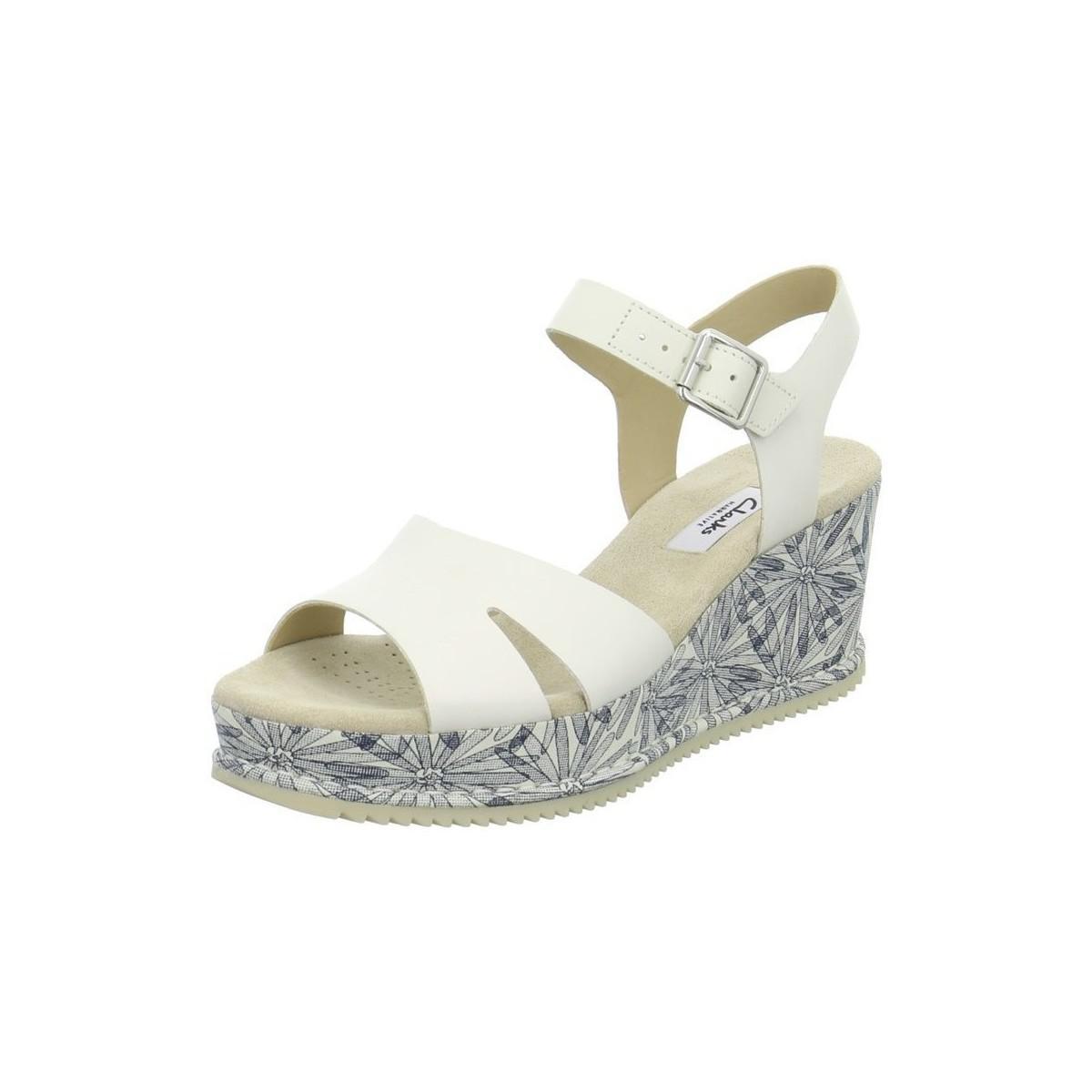 2bf44d07dea12f Clarks Akilah Eden Women s Sandals In White in White - Lyst
