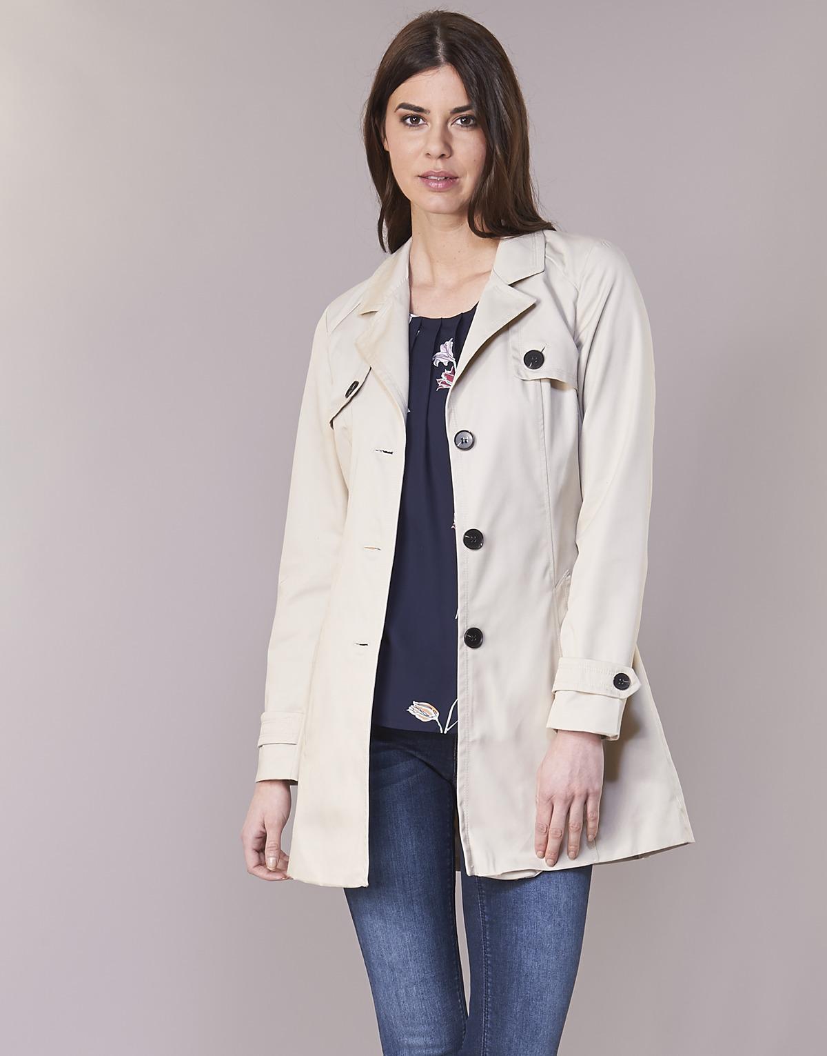 Vero Moda Vmgo Abby Women s Trench Coat In Beige in Natural - Lyst 0731d5fbfe