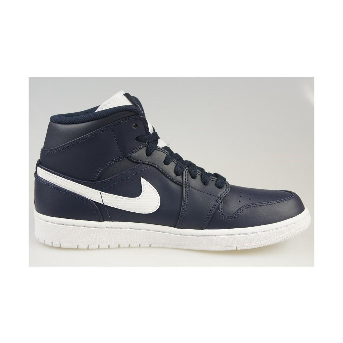 e3f83512edd6 Nike Air Jordan 1 Mid Men s Shoes (high-top Trainers) In White in ...