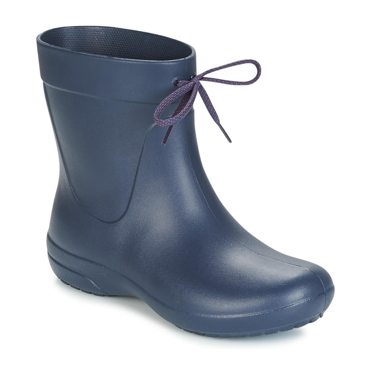 Crocs?  Freesail Shorty Rain Boot Women's Wellington Boots In Blue