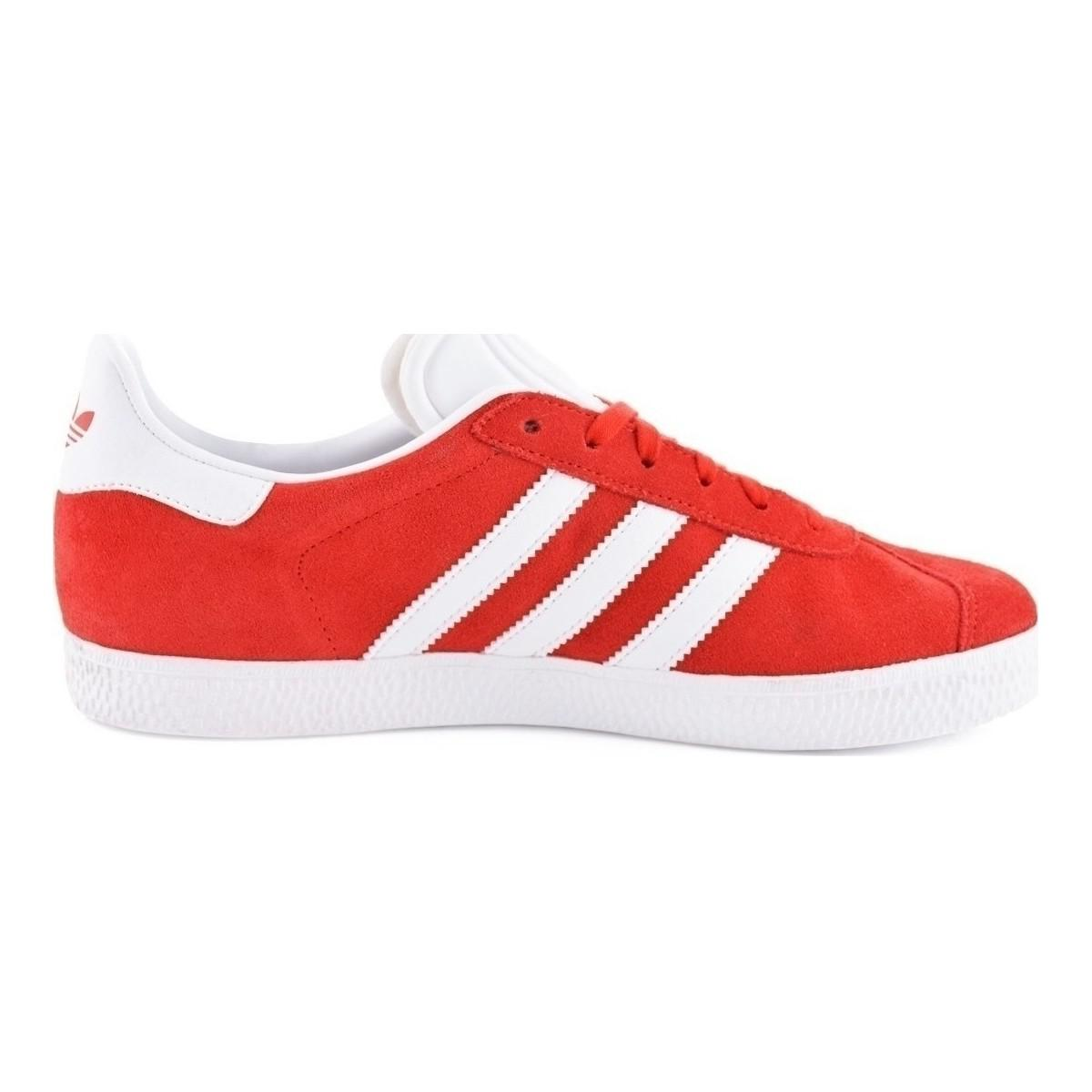 separation shoes ea4a4 7371f Adidas Gazelle J Womens Shoes (trainers) In Red in Red - Lys