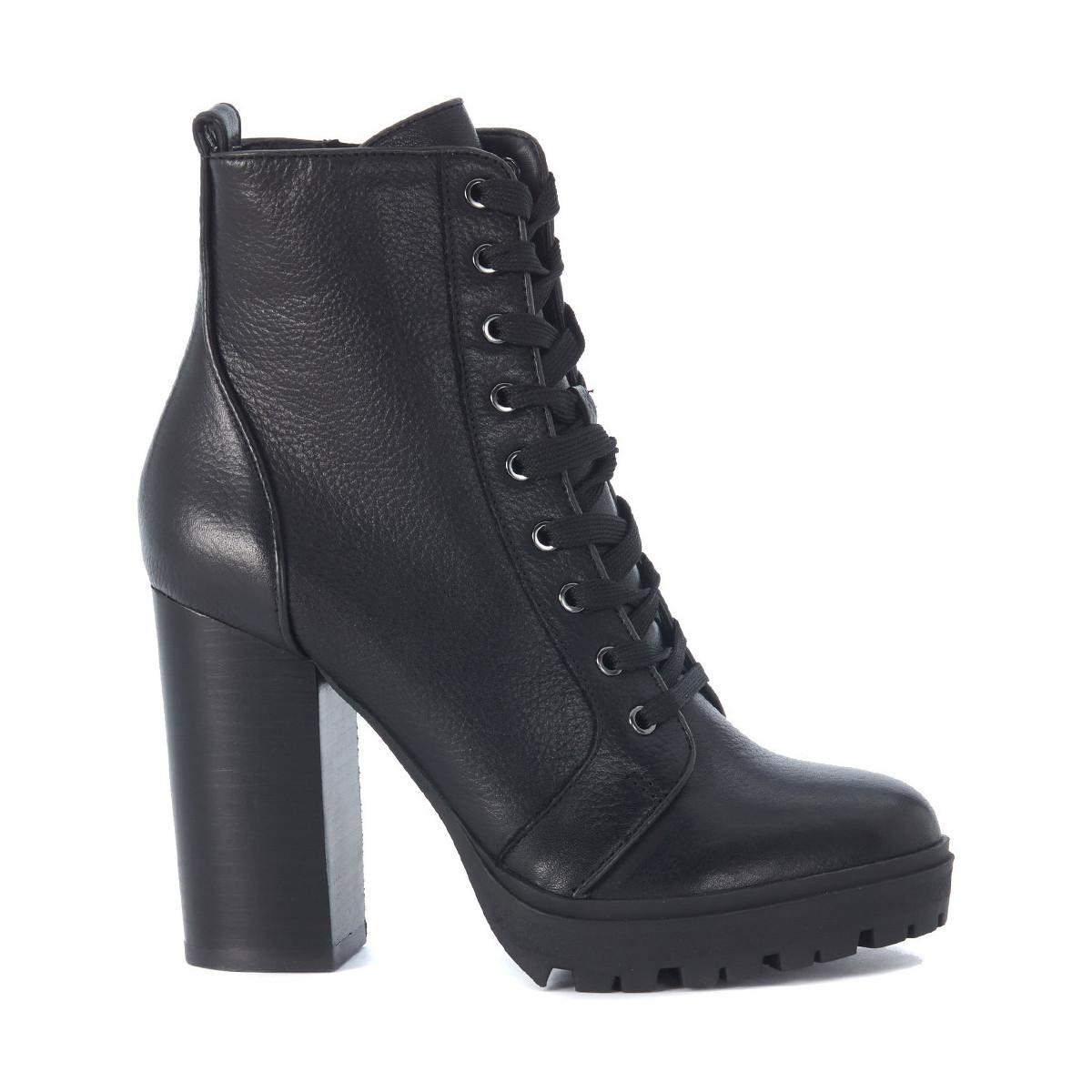 Steve Madden Laurie Black Leather Combat Boot Women S Low