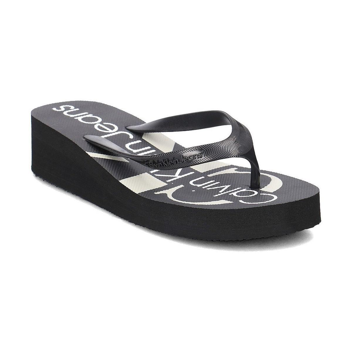 babb21a0f Calvin Klein Re9734 Women s Flip Flops   Sandals (shoes) In Black in ...