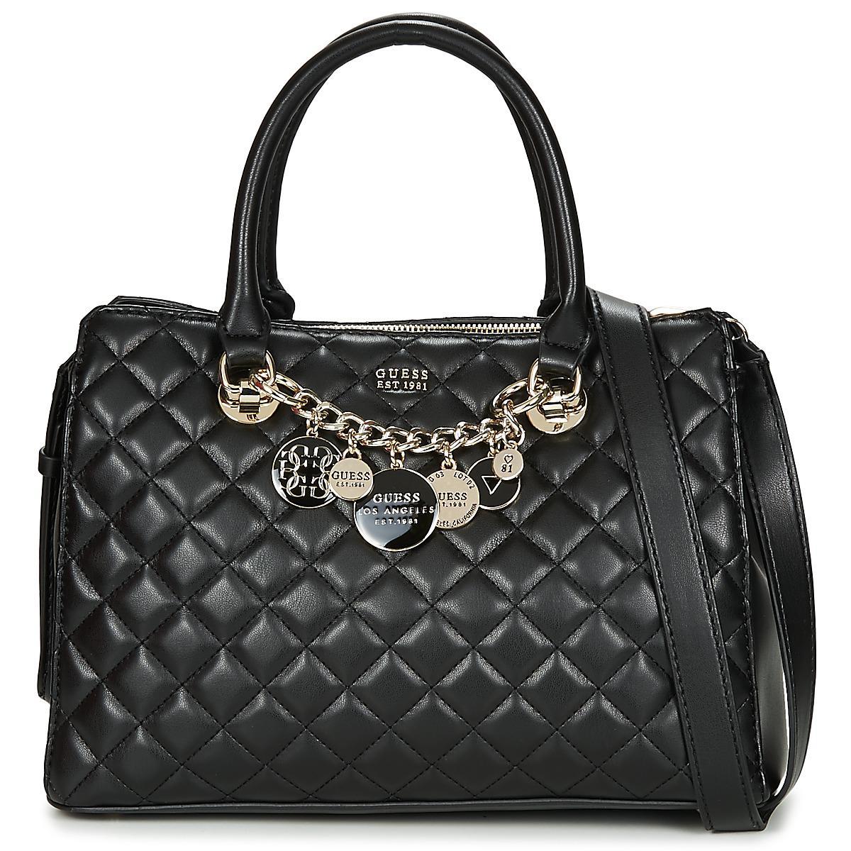 Main Noir Victoria En Satchel Guess Luxury À Femmes Sac Lyst Pour FJcuK1Tl3