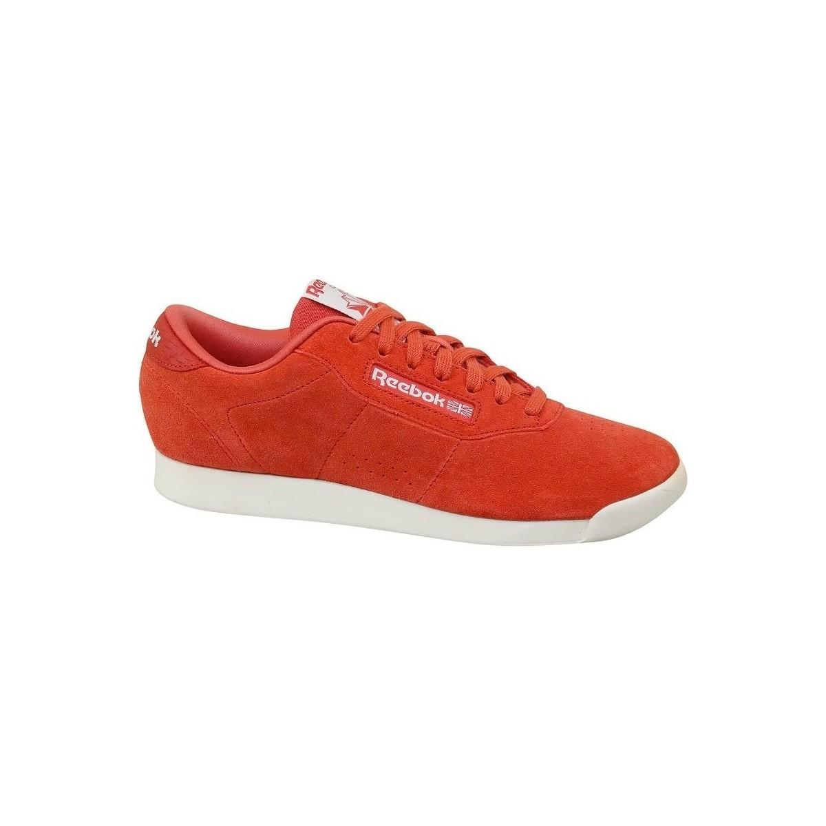 b794643b57374 Reebok - Princess Woven Emb Clay Women s Shoes (trainers) In Orange - Lyst.  View fullscreen
