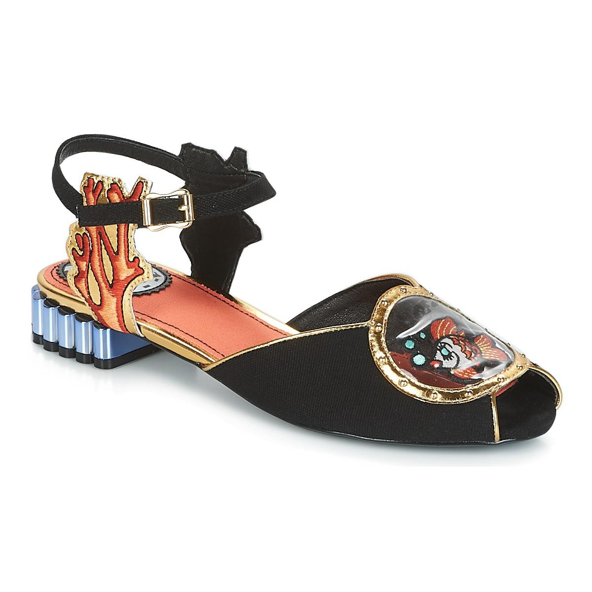 44a6156c862 Miss L Fire Ariel Women s Sandals In Black in Black - Lyst