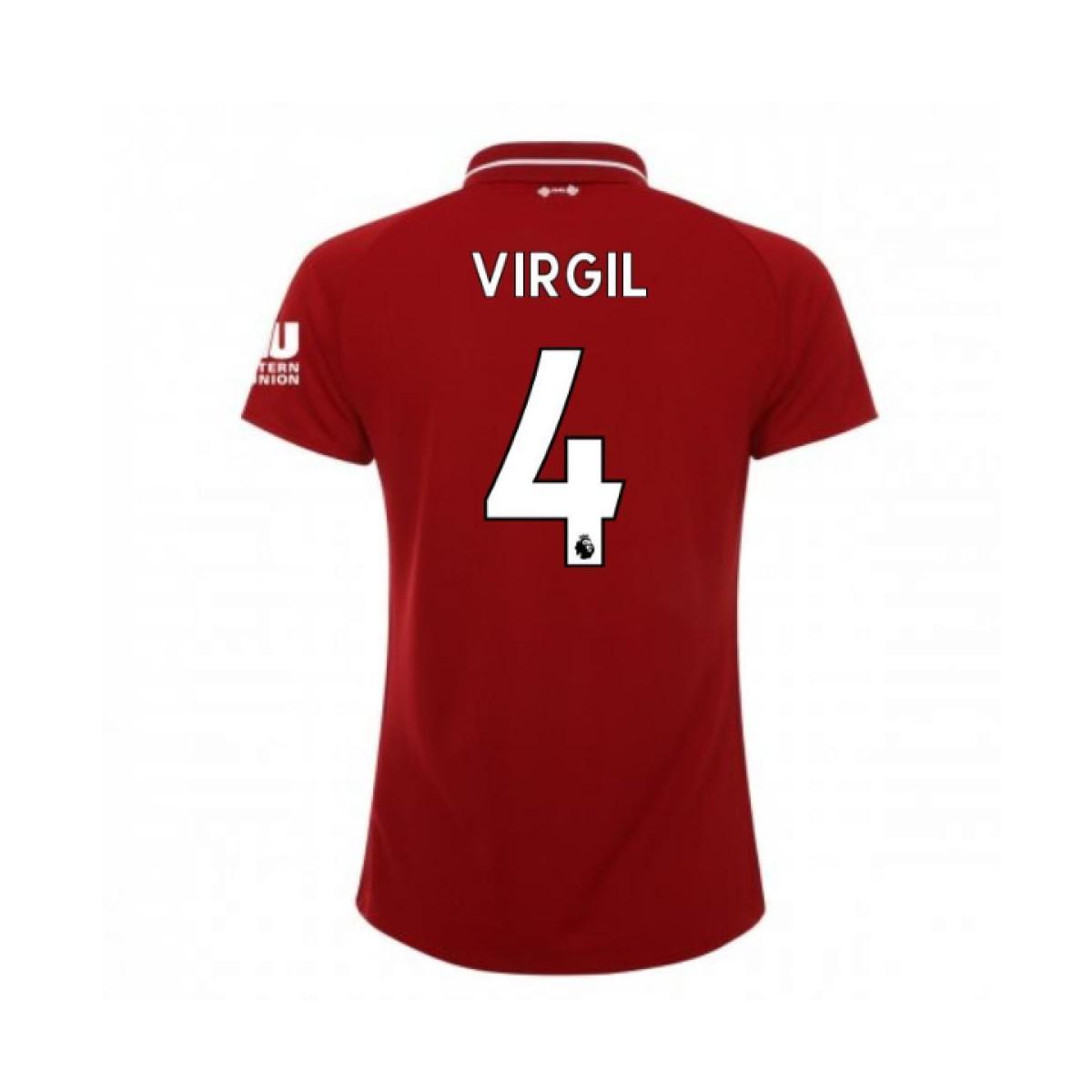 3a020098 New Balance 2018-2019 Liverpool Home Ladies Football Shirt (virgil 4 ...