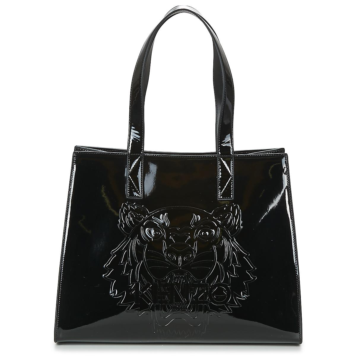Kenzo Icons Horinzontal Tote Women s Shoulder Bag In Black in Black ... 6d871fbc11038