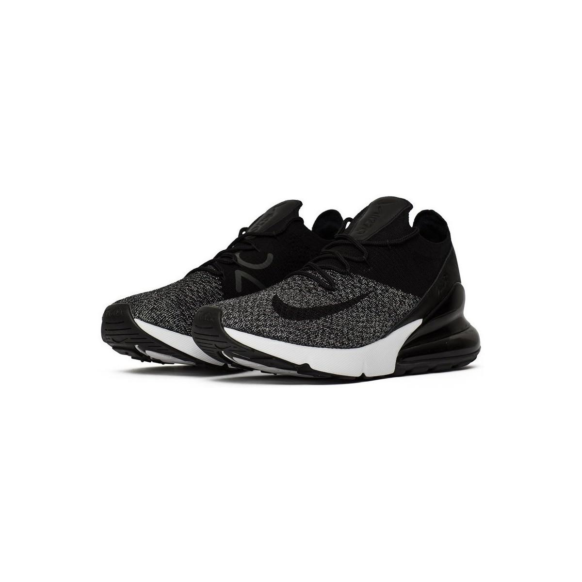 51c70e2a09d0 Nike Air Max 270 Flyknit Men s Shoes (trainers) In Black in Black ...
