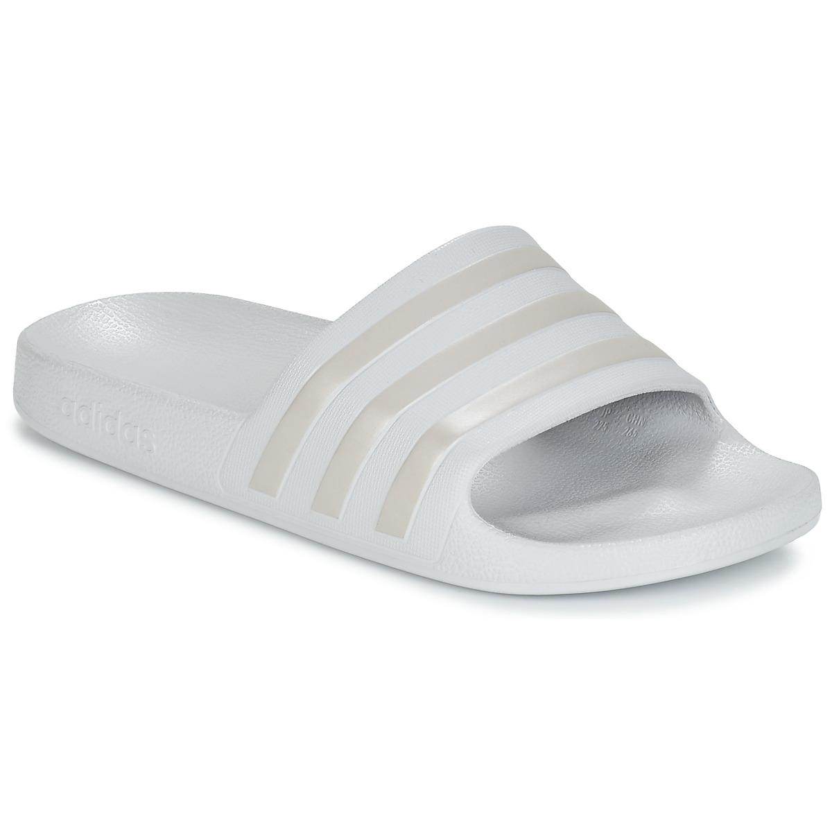 d7064fe6 adidas Adilette Aqua Women's In Silver in Metallic for Men - Lyst