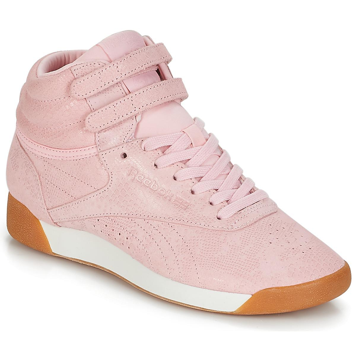7e28a69d5464 Reebok Freestyle Hi Shoes (high-top Trainers) in Pink - Lyst