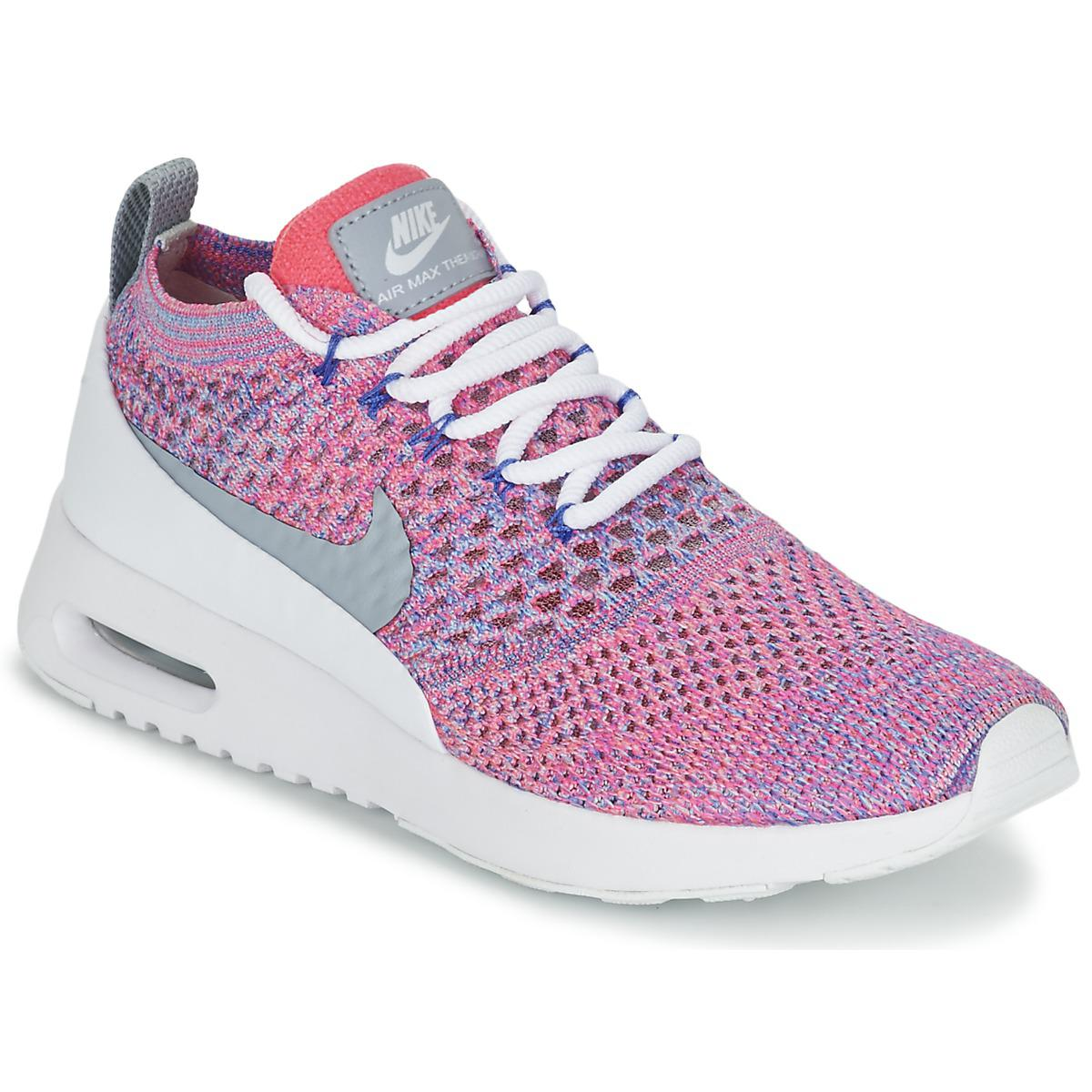 50eea5d6c4ad Nike Air Max Thea Ultra Flyknit W Shoes (trainers) in Pink - Lyst