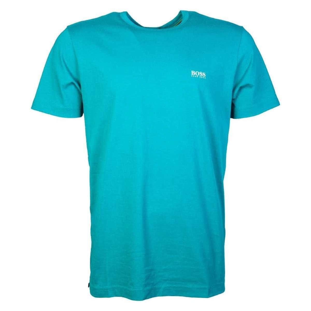 ca63d8a03 BOSS T Shirt Model Quot;tee 50333772 Quot; Men's T Shirt In Green in ...
