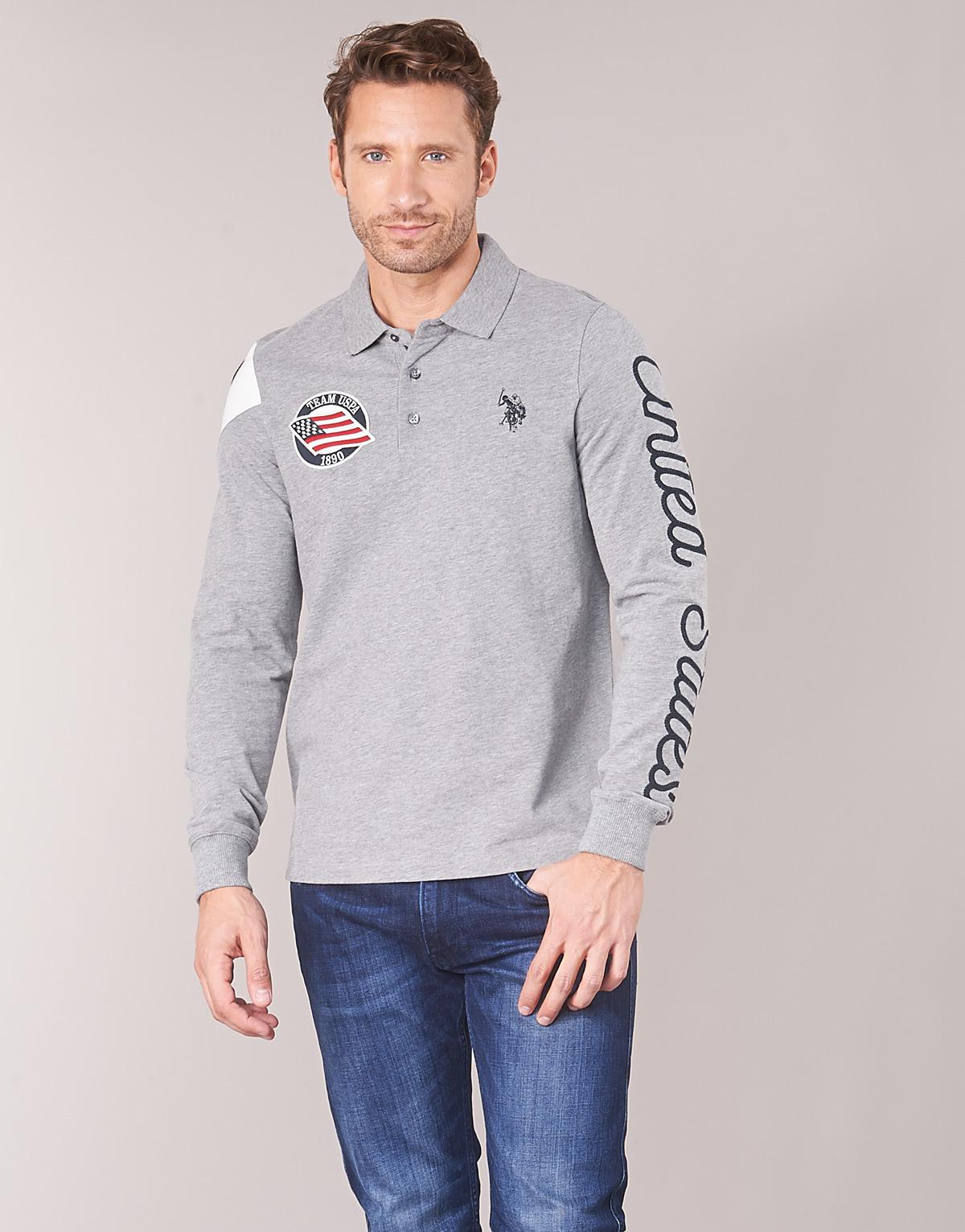 Us Polo Assn United States Polo Polo Shirt In Gray For Men Lyst