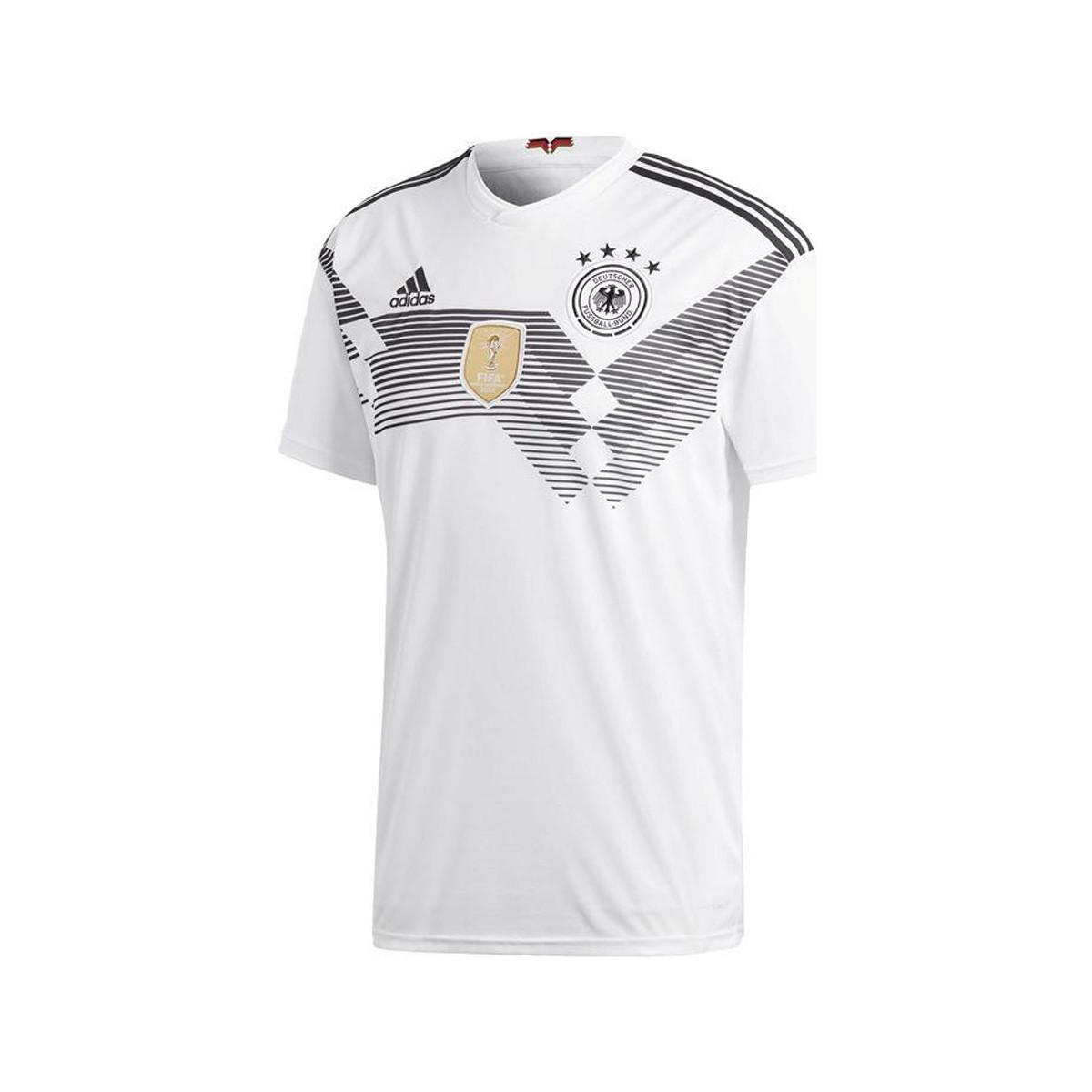 96d97bea7 adidas 2018-2019 Germany Home Football Shirt Men s T Shirt In White ...