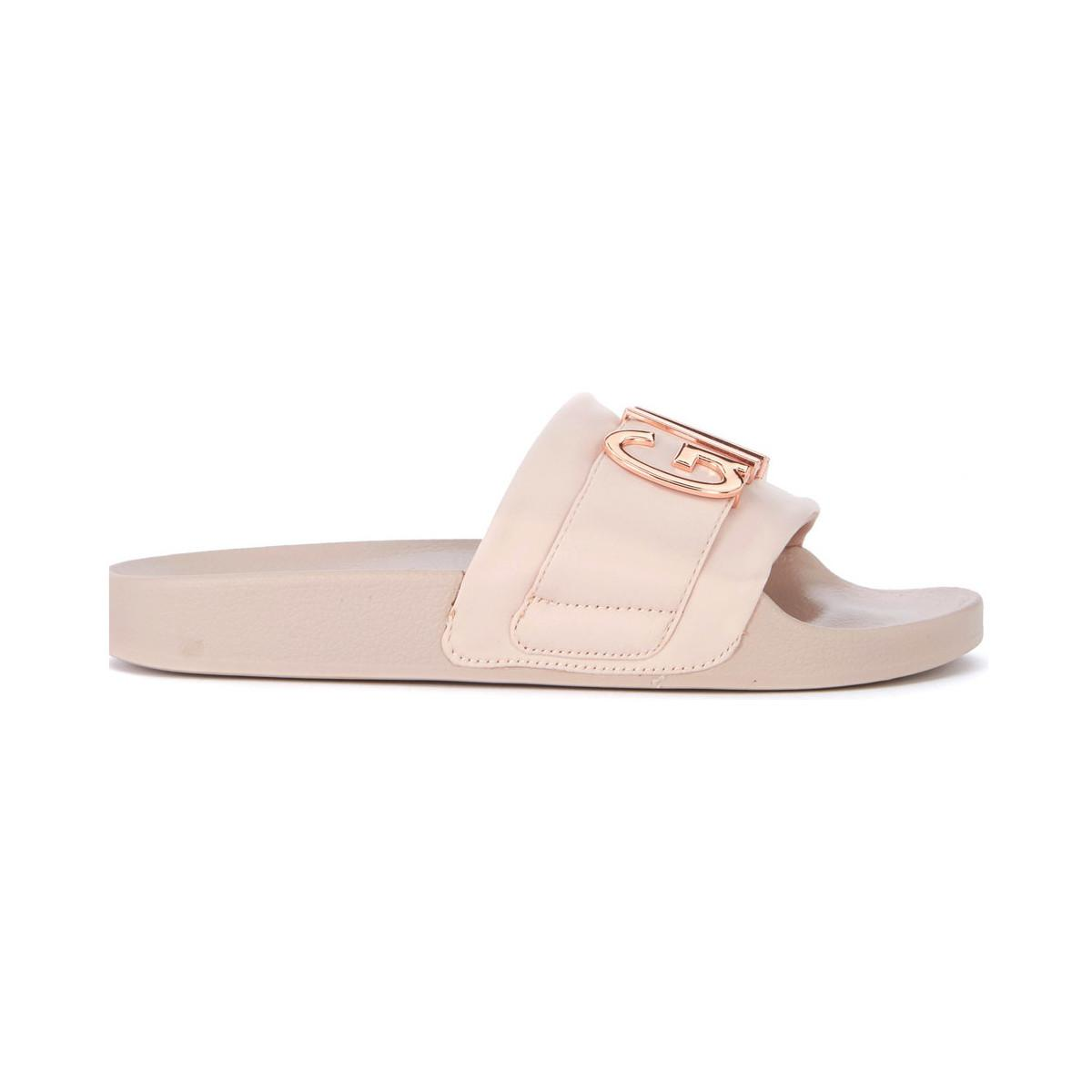 ae146904b9f Steve Madden. Ciabatta Word In Satin Rosa Con Scritta In Metallo Women s  Sandals In Pink