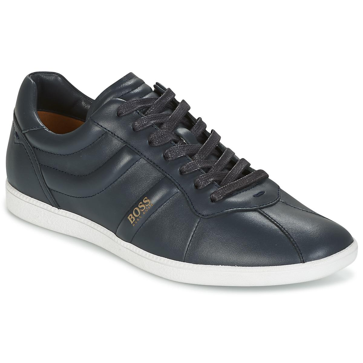 Mens Rumba_Tenn_ltpl Low-Top Sneakers, Midnight Blue Boss Orange by Hugo Boss