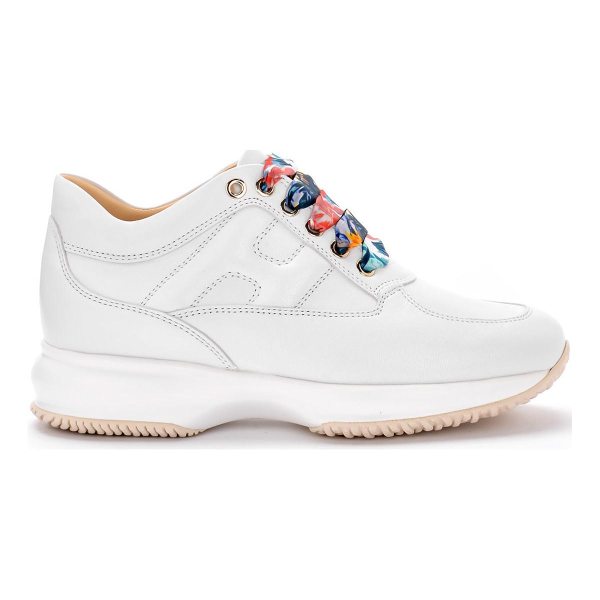 a28da6944e7 Tap to visit site. Hogan - Interactive Luxury White Refined Leather Sneaker  Women's Shoes (trainers) ...