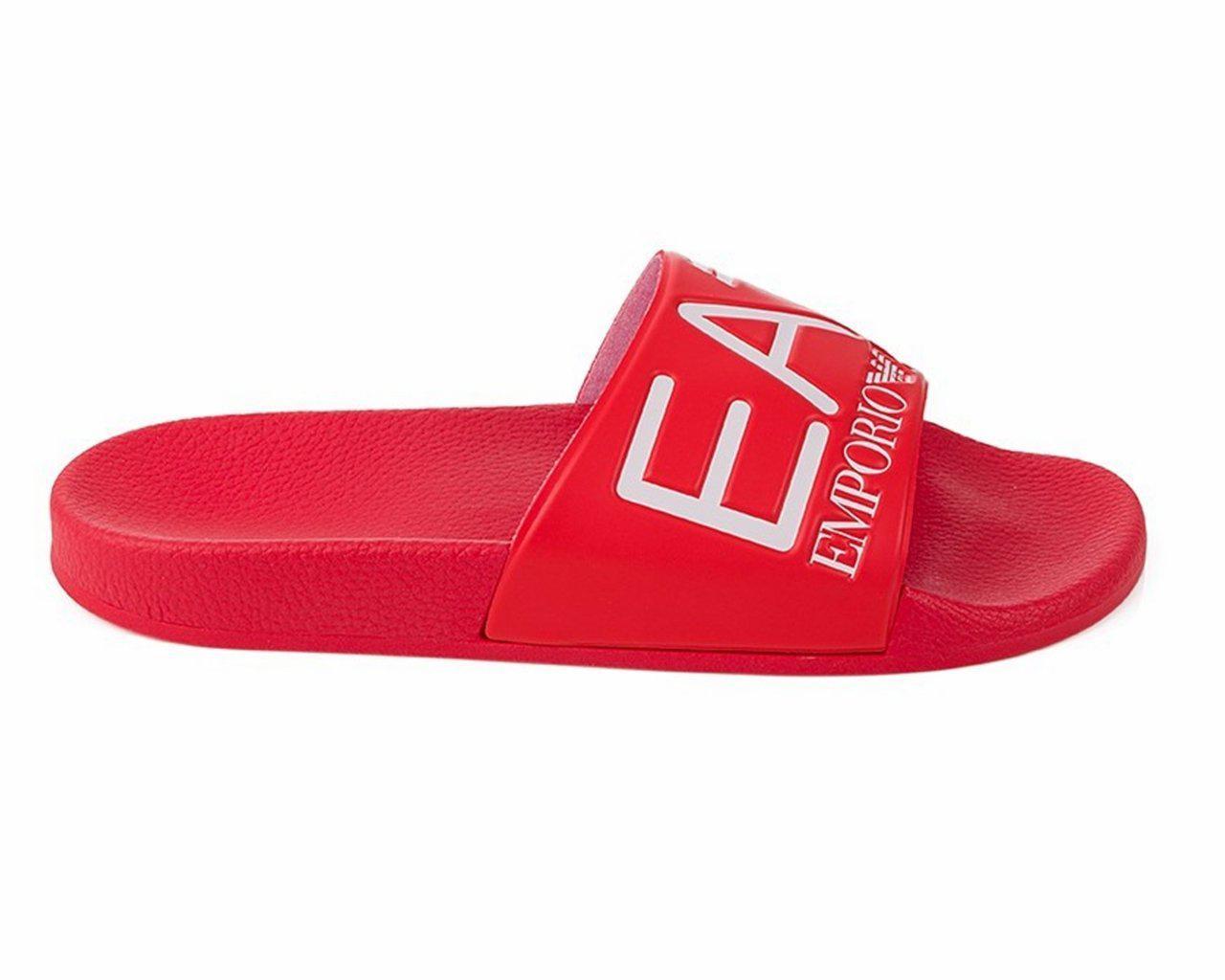 f9ad50c5f7e84 Emporio Armani Sea World Slippers Sliders Red in Red - Lyst