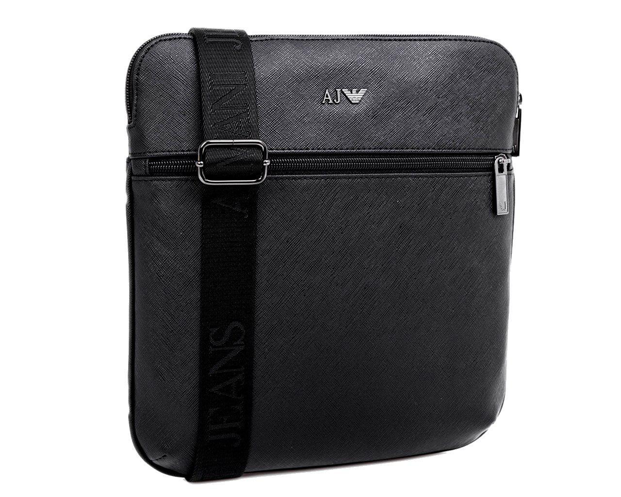 332ffd31967 Armani Jeans M Borsa Messenger Bag Black in Black for Men - Lyst