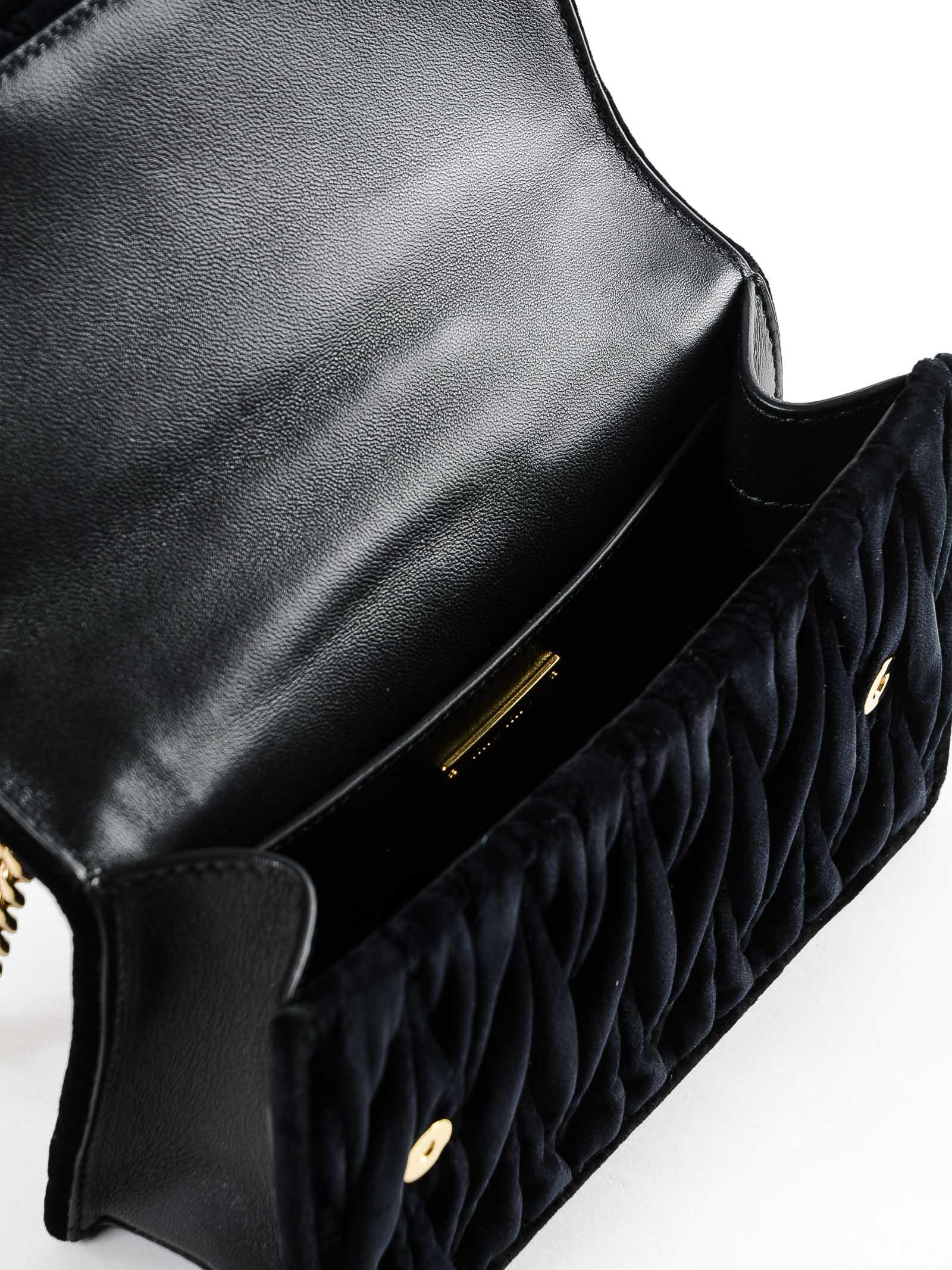 d1be050b1c12 Miu Miu - Black Velvet Crossbody Bag - Lyst. View fullscreen