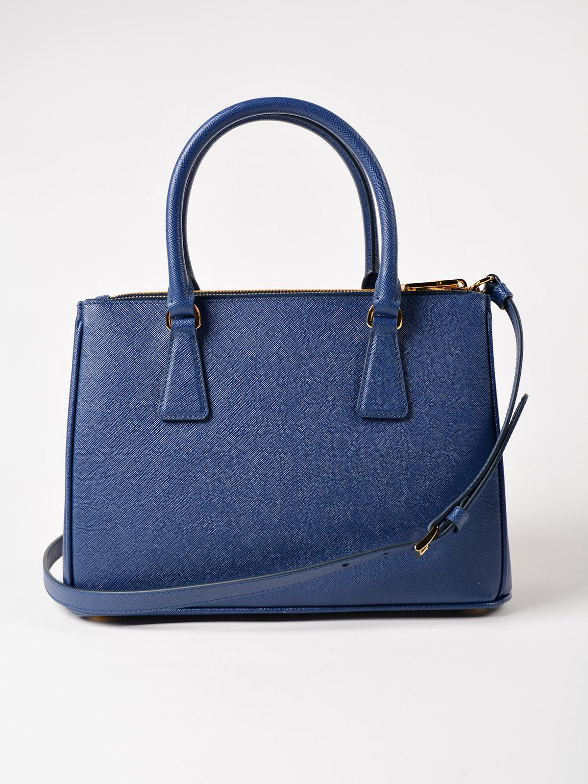 db24c68d9aac Lyst - Prada Galleria Handbag Saffiano Lux in Blue