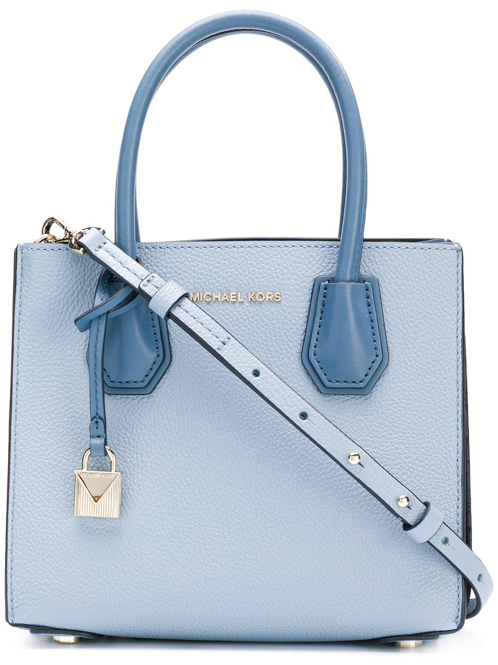 c5aec213715c Lyst - Michael Kors Mercer Md Messenger in Blue