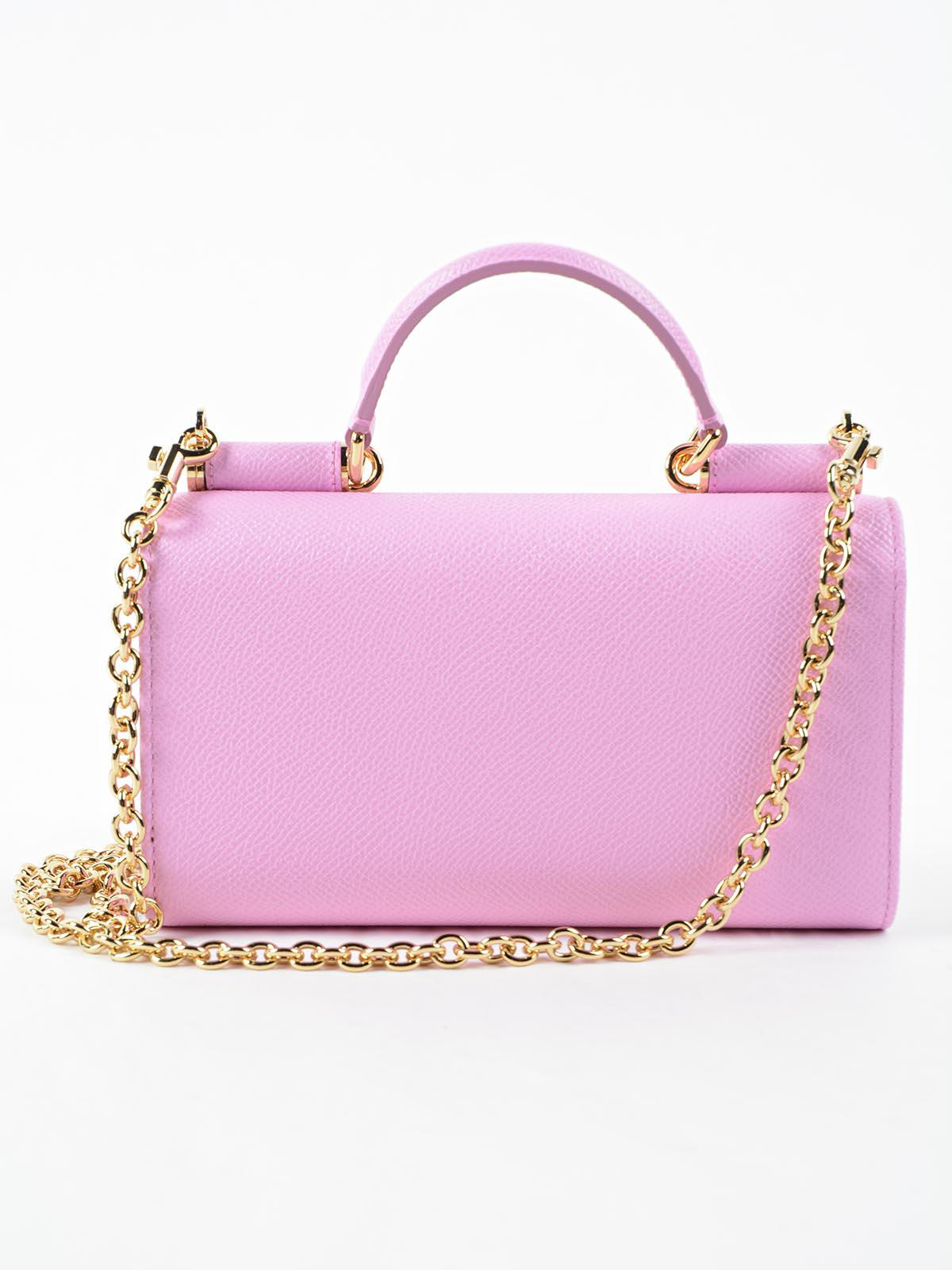 ... new arrival acb50 65e4f Lyst - Dolce Gabbana Phone Bag St.dauphine in  Pink ... 9876247cf5810