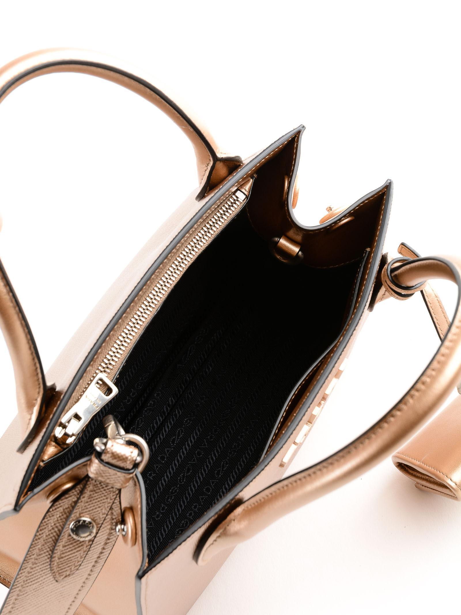 49ac2d548665 Prada Monochrome Handbag in Natural - Lyst