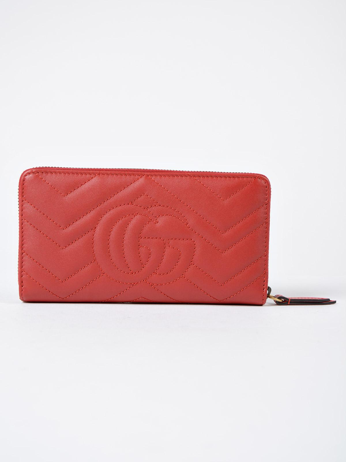 13deca982ad Gucci - Red GG Marmont 2.0 Zip Around Wallet - Lyst. View fullscreen
