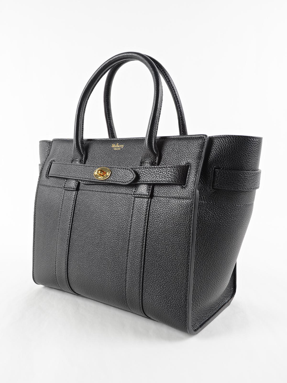Lyst - Mulberry Small Zip Bayswater Bag in Black 77d75eff389f1