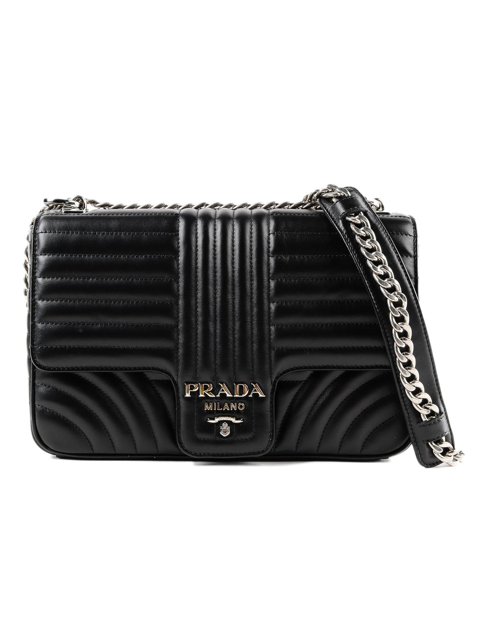 13456f4d0cf0 Lyst - Prada Diagramme Shoulder Bag in Black