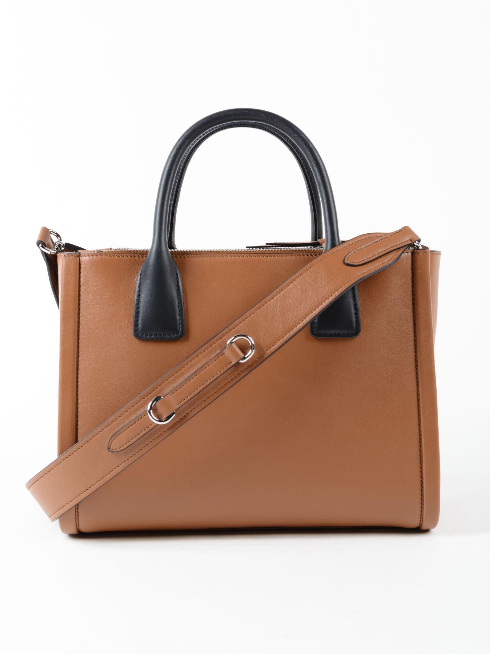 c7de26af1bdb Prada Grace Lux Handbag in Brown - Lyst