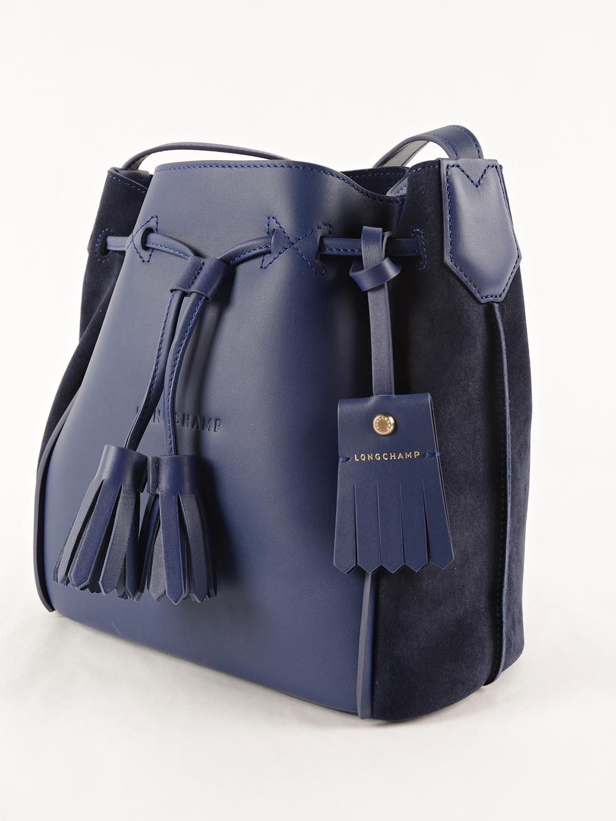 Good Cde7f Longchamp Blue Penelope Ebd1c Bucket Soft In Lyst Bag rA6qrdw