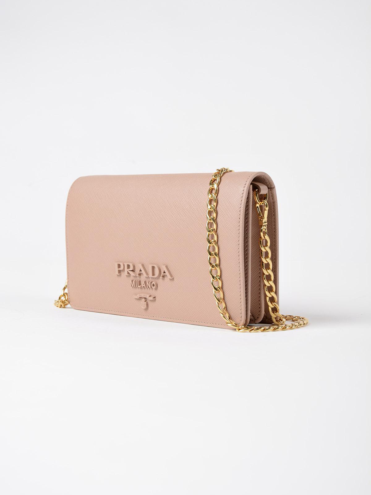 50c11b5ab48e Prada Saffiano Lux Wallet Bag - Lyst
