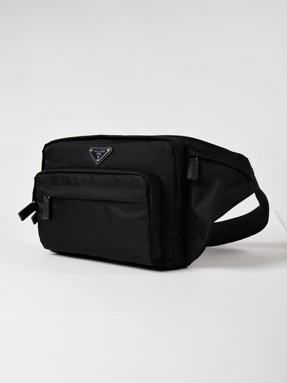 7fdc6c79a958 Lyst - Prada Tessuto Montagna Belt Bag in Black for Men