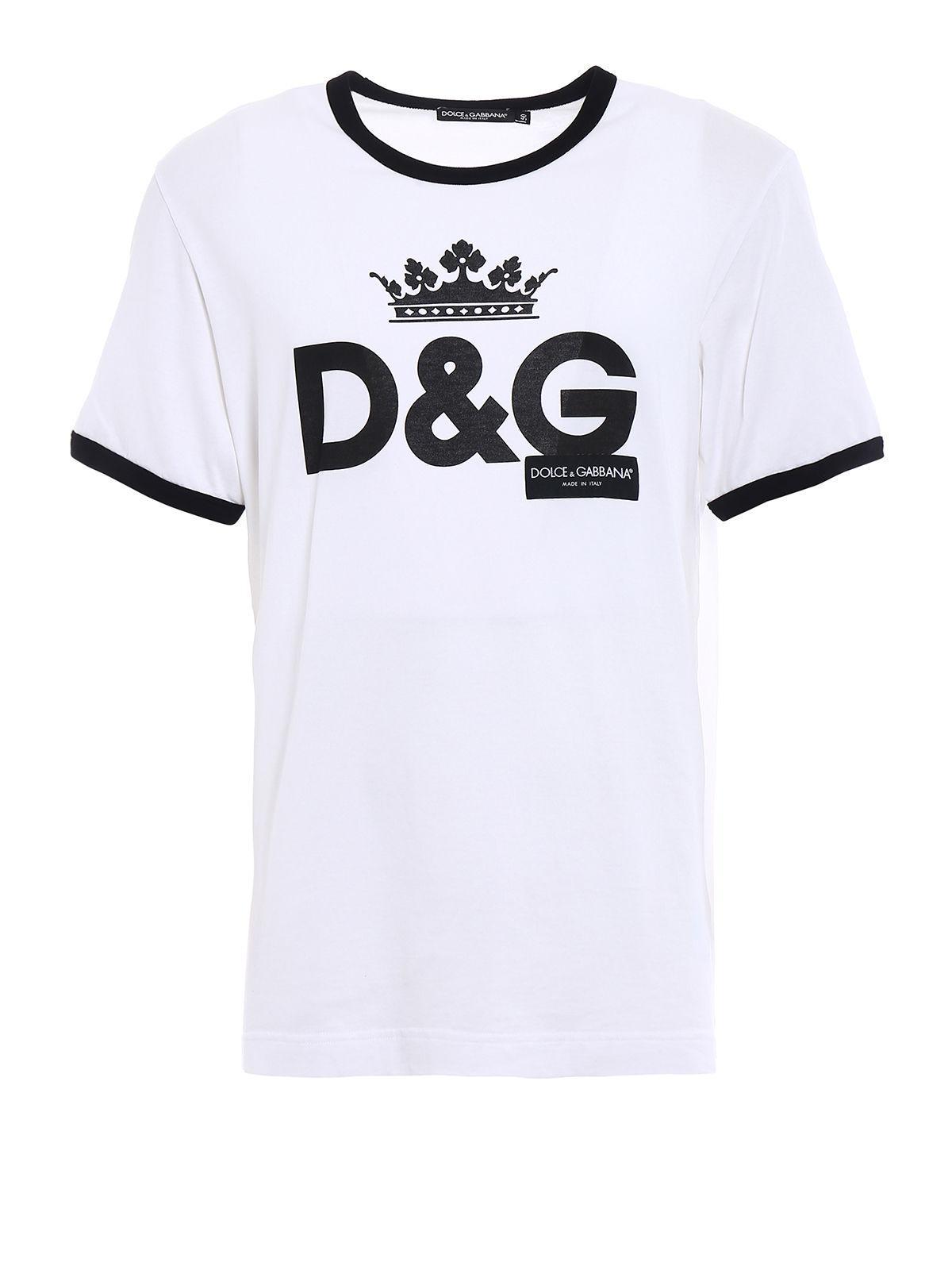 1eca9050d0ad Lyst - Dolce   Gabbana Crown D g Logo T-shirt in White for Men