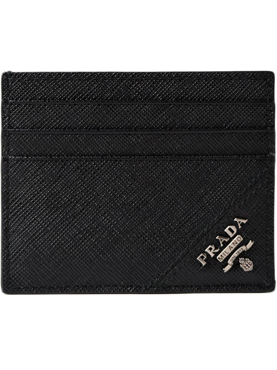76937e441d2 Prada - Black Cc Case Saffiano Metal for Men - Lyst. View fullscreen