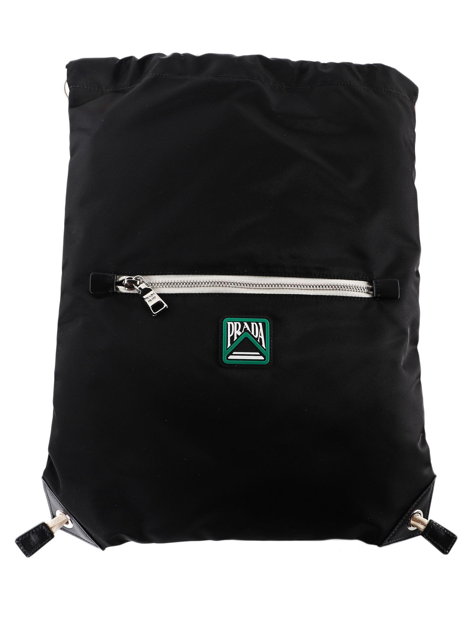 ee777088b9ac Lyst - Prada Backpack Tessuto in Black for Men