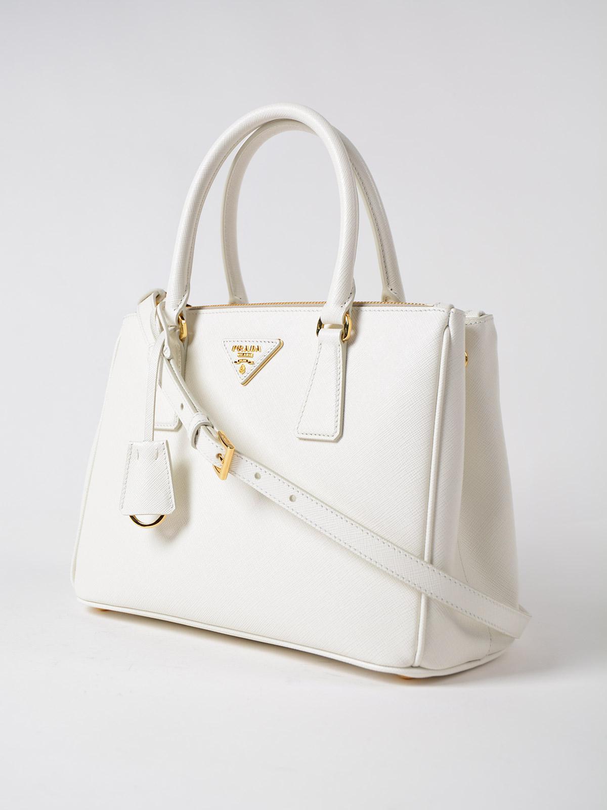 d5eaaee6daf6 Prada Saffiano Lux Galleria Bag in White - Lyst
