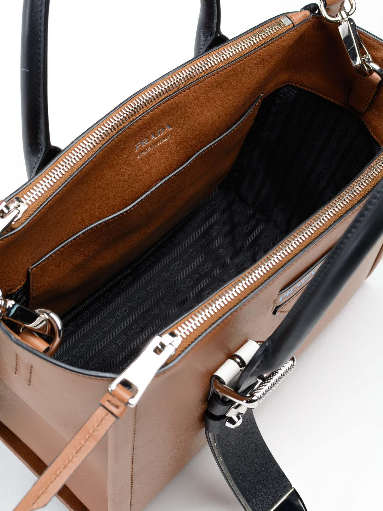 f3b8e1b36bbc34 Prada Grace Lux Handbag in Brown - Lyst