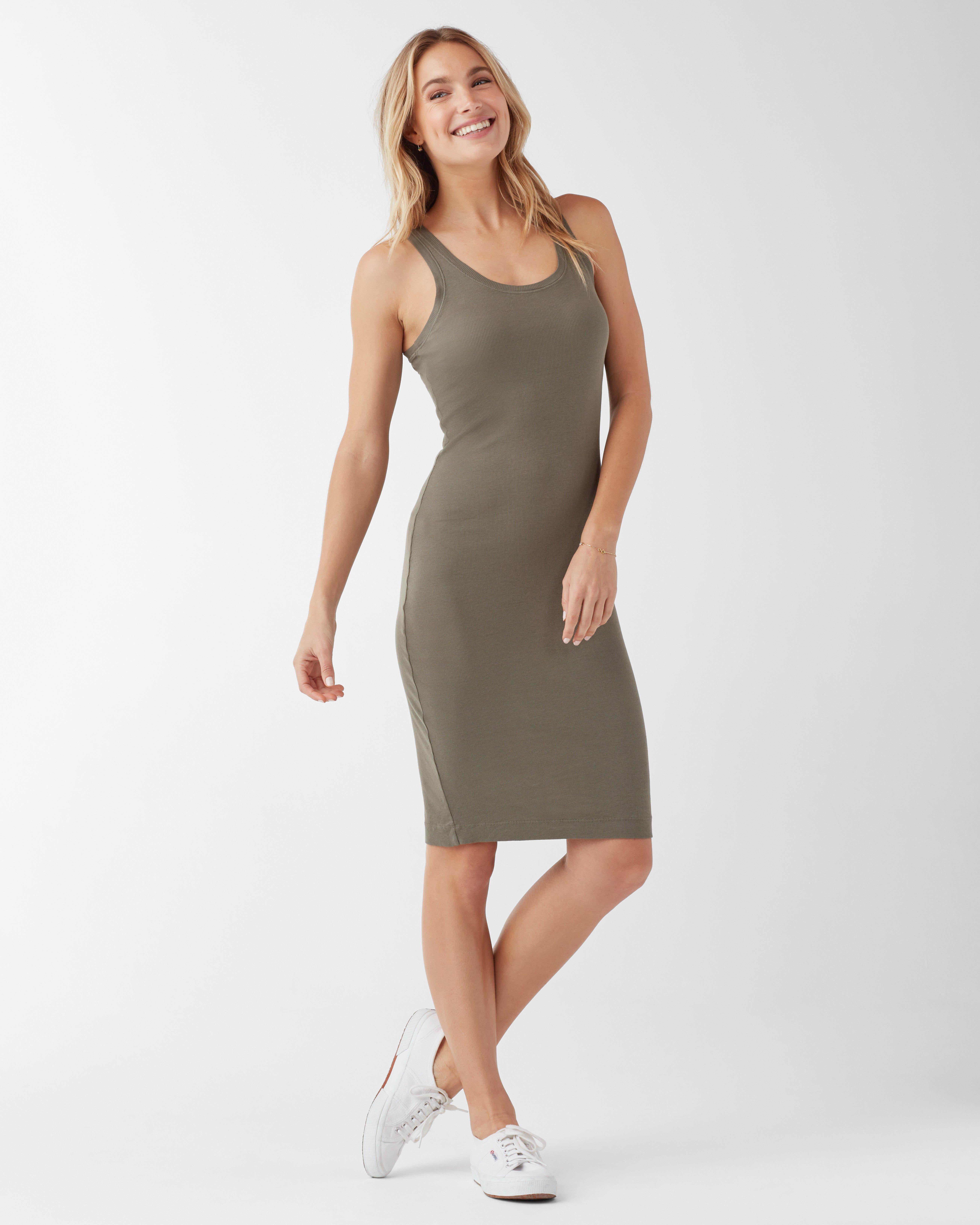 b6bf859b4fd Splendid Rib Tank Dress in Green - Save 40% - Lyst