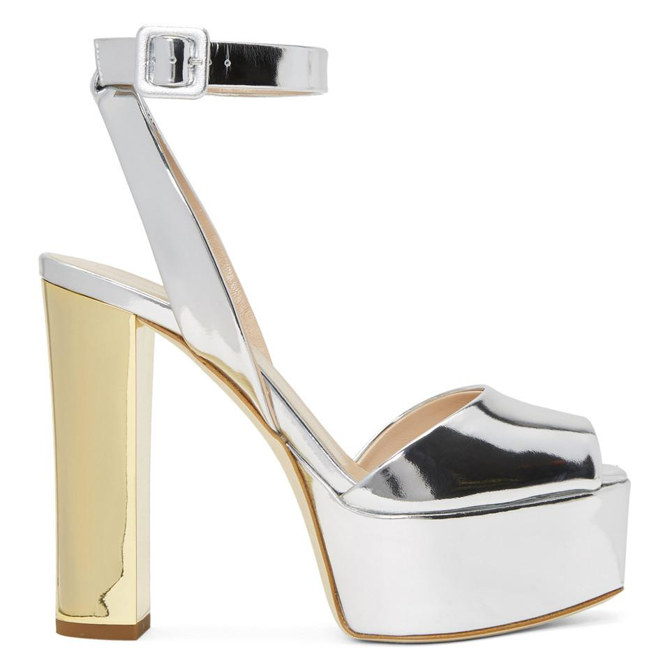 Giuseppe Zanotti Silver Lavinia Platform Sandals 4MX4yfNqZp