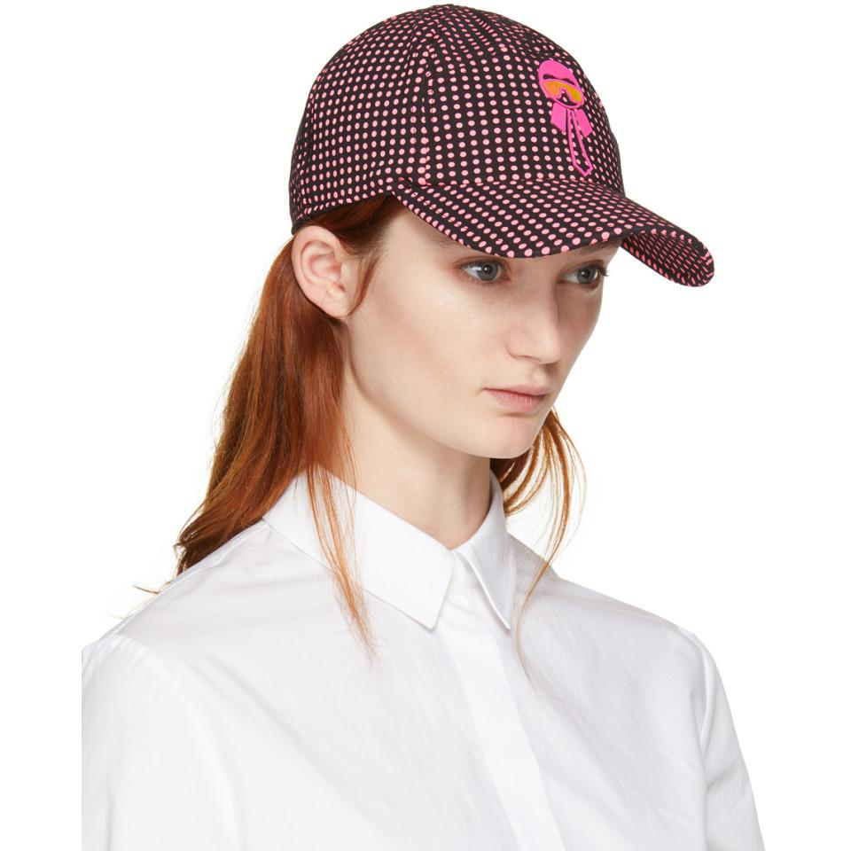 Black and Pink Karlito Polka Dot Cap Fendi lnDpfqk