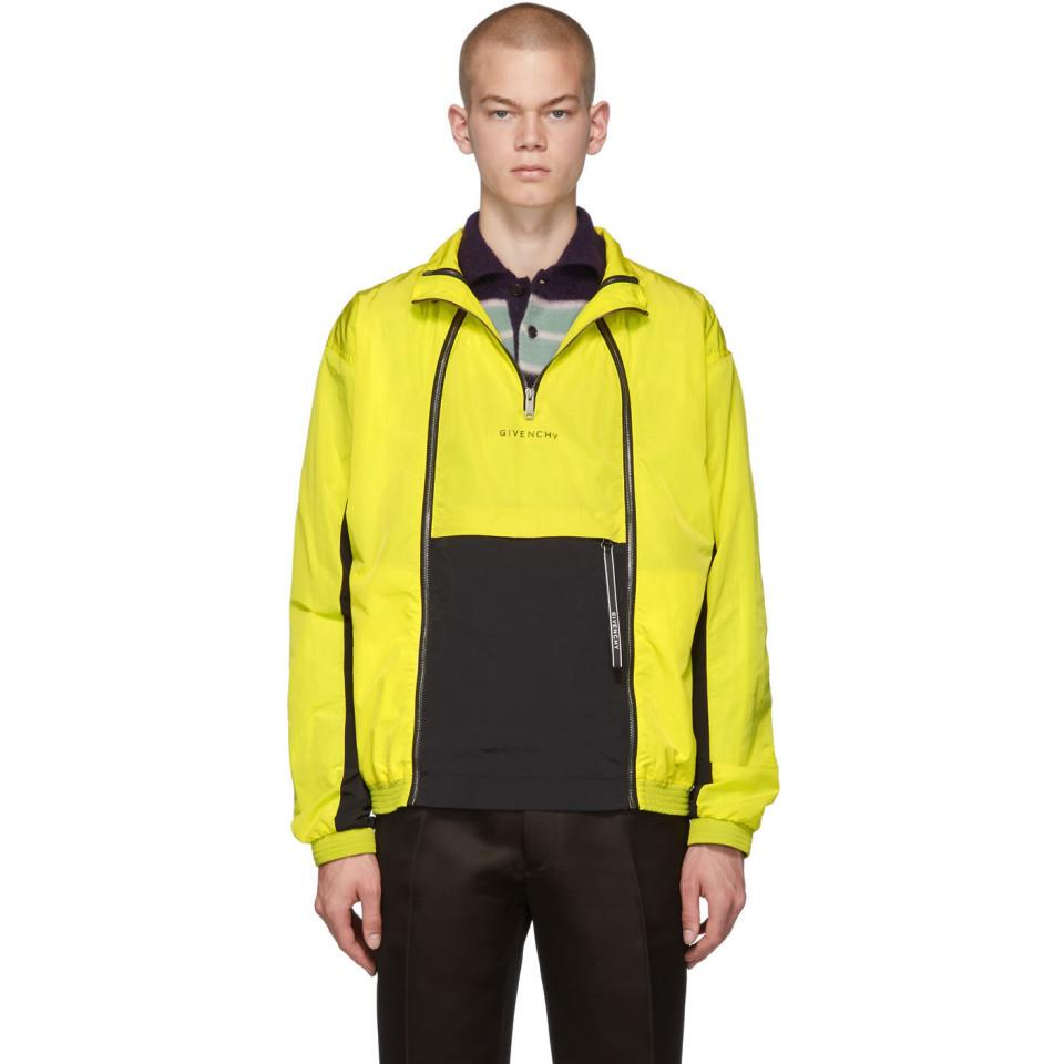 de8d66b1e Givenchy Yellow Zippered Windbreaker Jacket in Yellow for Men - Lyst